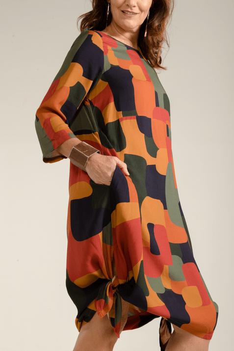 Vestido estampado camuflado