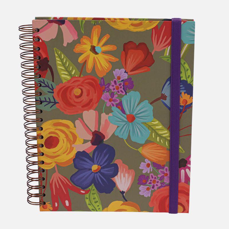 Caderno-universitario-Escolar-10-materias-180-folhas-Floral-Noite-1-CA2229-Papel-Craft
