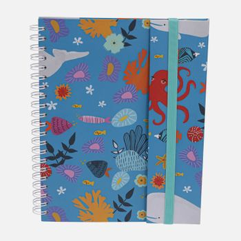 Caderno-universitario-Escolar-com-aba-90-folhas-Oceano-magico-1-CA2982-Papel-Craft