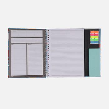 Caderno-universitario-Escolar-com-aba-90-folhas-Oceano-magico-3-CA2982-Papel-Craft