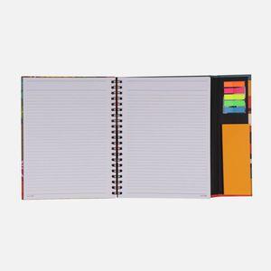 Caderno-universitario-Escolar-com-aba-90-folhas-Floral-Noite-3-CA2982-Papel-Craft