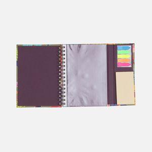 Caderno-com-aba-post-its-Pautado-Floral-Noite-4-CA2838-Papel-Craft