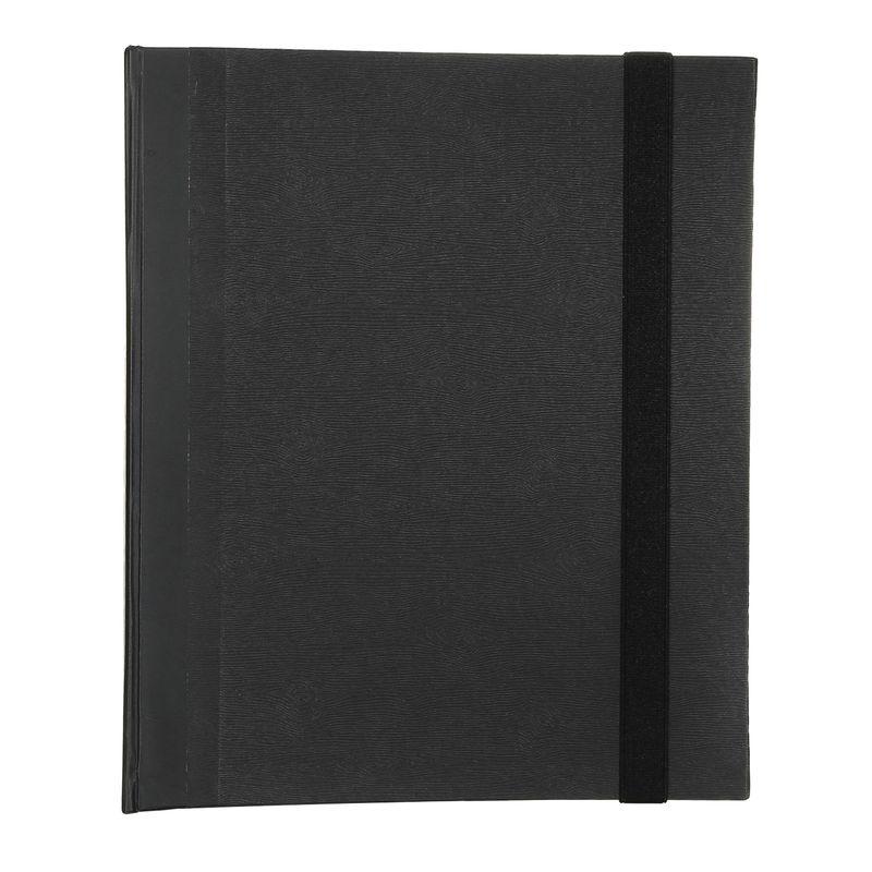 Fichario-A4-Cartonado-preto-liso-elastico-1-FI1095-Papel-Craft
