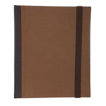 Fichario-A4-Cartonado-Caramelo-liso-elastico-1-FI1095-Papel-Craft