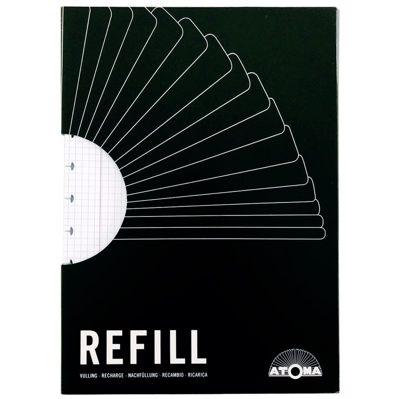 Refil-Caderno-Inteligente-quadriculado-Atoma-RF4125-Papel-Craft