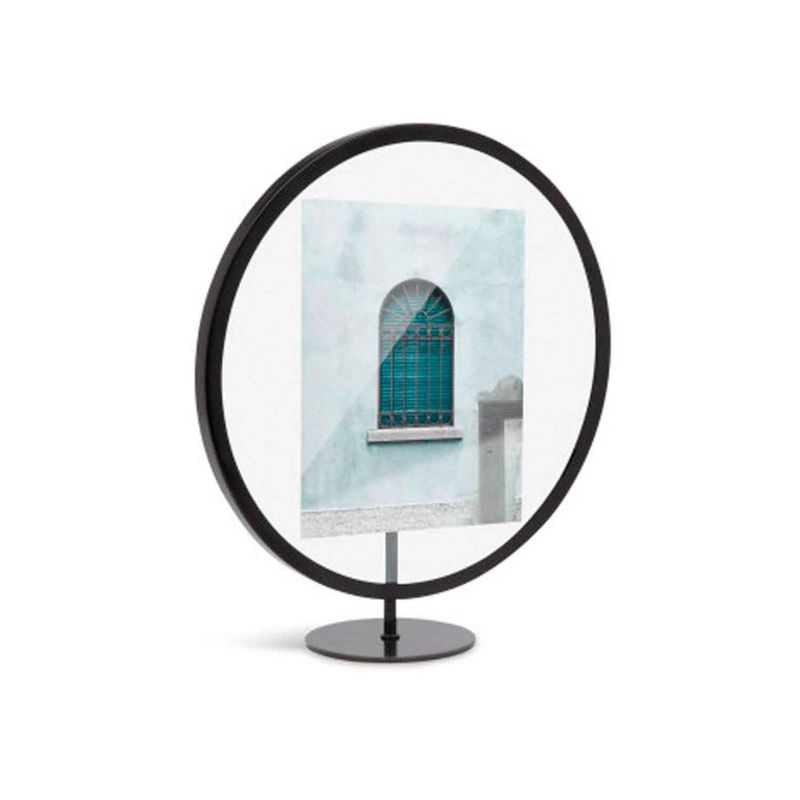 PE1761-Porta-Retrato-preto-Redondo-INFINITY-BLACK-Papel-Craft