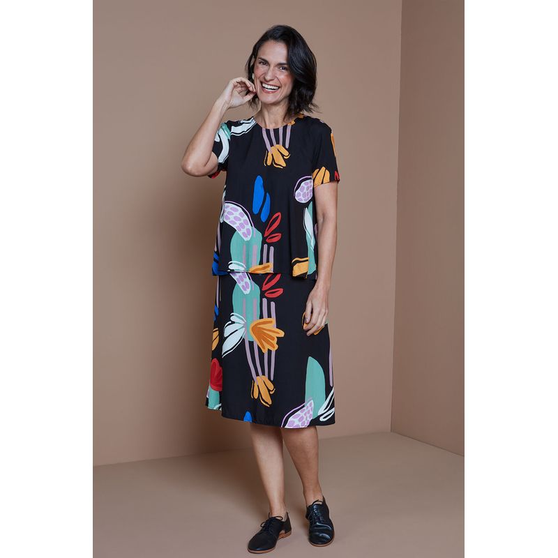 Saia-midi-tecido-viscose-Floral-Naif-ROU1306-1-Papel-Craft