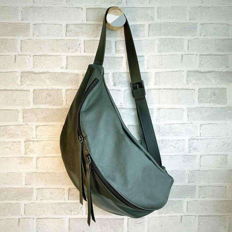 Pochete-Bolsa-couro-legitimo-CO2713-verde-musgo-1-Papel-Craft