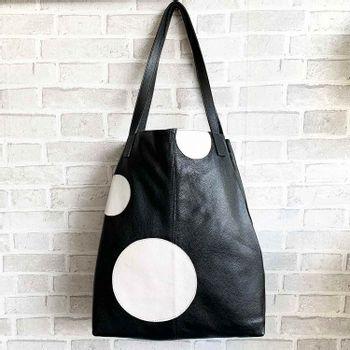 Bolsa-saco-couro-bolas-preto-co2771-Papel-Craft
