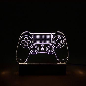 Luminaria-led-base-madeira-playstation-1-VA9862-papel-craft