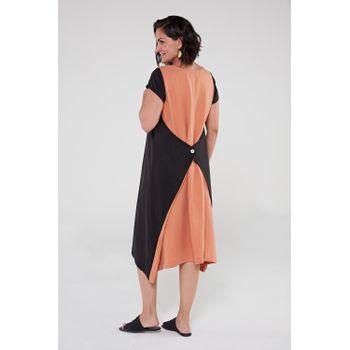 Vestido-de-viscose-preto-ocre-2-ROU1473-papel-craft