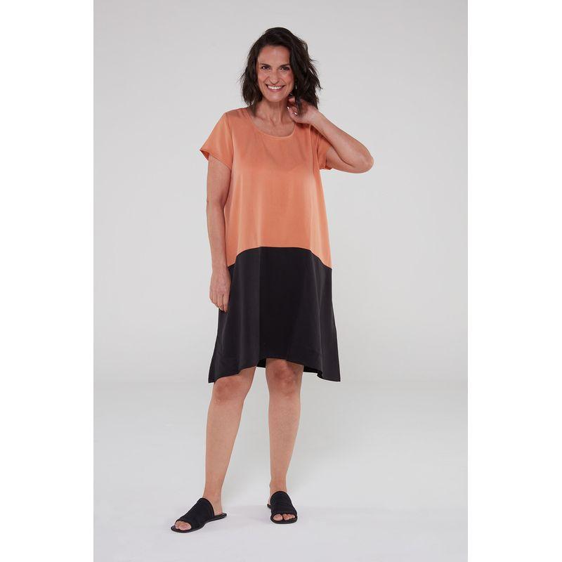 Vestido-bicolor-preto-ocre-1-ROU1470-papel-craft