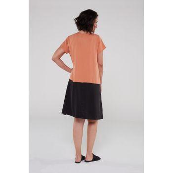 Vestido-bicolor-preto-ocre-2-ROU1470-papel-craft