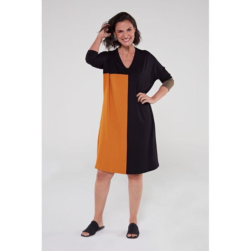 Vestido-de-viscose-preto-mostarda-1-ROU1402-papel-craft