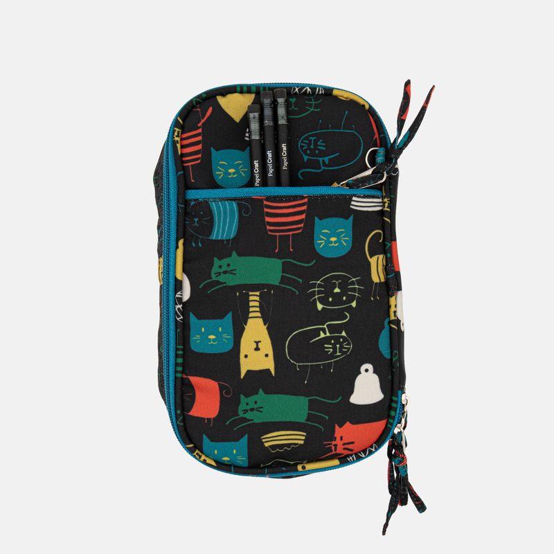 Estojo-escolar-grande-elastico-ziper-gatinhos-1-ES1239-papel-craft