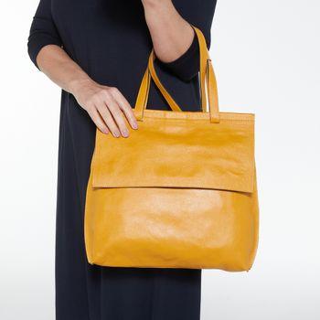 Bolsa-couro-merci-amarela-gold-co2211-papel-craft-1
